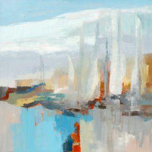 schilderij voiles blanches iii