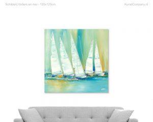 schilderij voiliers en mer