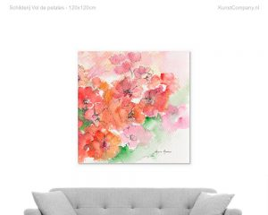 schilderij vol de petales