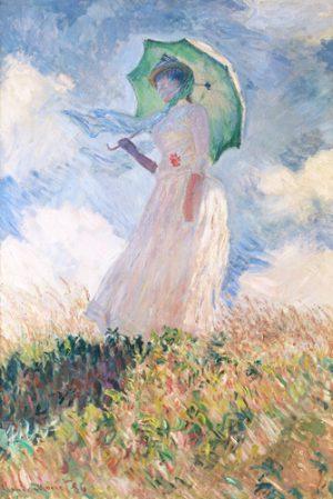 schilderij vrouw met parasol