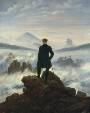 schilderij wanderer above the sea of fog