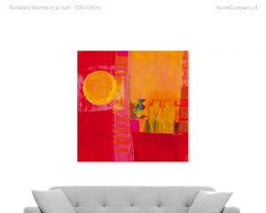 schilderij warmte in je hart