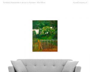 schilderij wasserette in de tuin in kandern