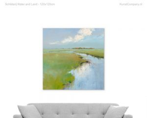 schilderij water and land