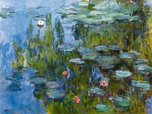 schilderij waterlelies