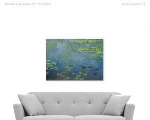 schilderij waterlelies iv