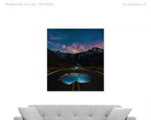schilderij way the lake