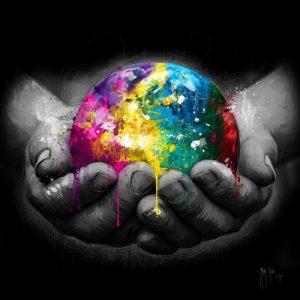 schilderij we are the world