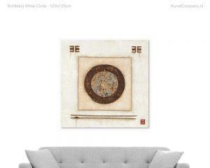 schilderij white circle