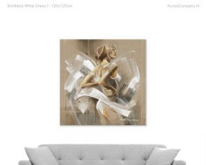 schilderij white dress i