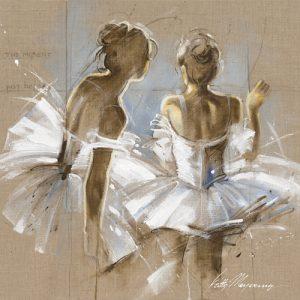 schilderij white dress ii
