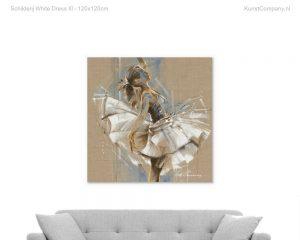 schilderij white dress iii