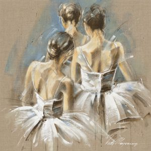 schilderij white dress iv