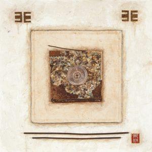 schilderij white rectangle