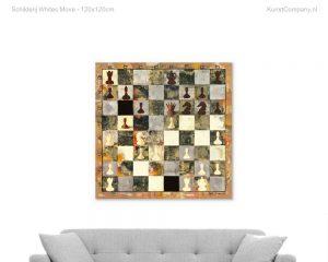schilderij whites move