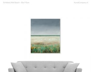 schilderij wild beach