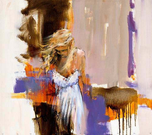 schilderij wind in your hair