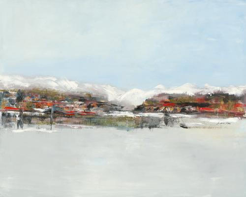 schilderij wintertown