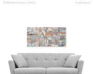 schilderij winterwonderland
