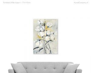schilderij witte tulpen i