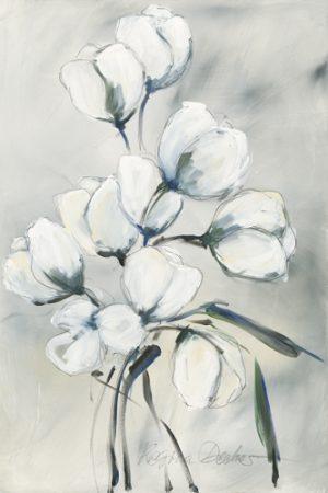 schilderij witte tulpen ii