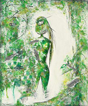 schilderij woman