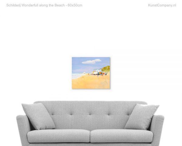 schilderij wonderfull along the beach