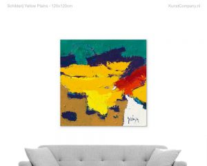 schilderij yellow plains