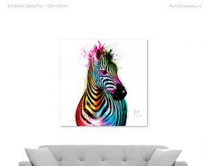 schilderij zebra pop