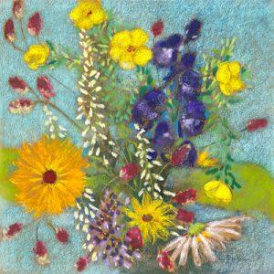 schilderij zomerbloemen