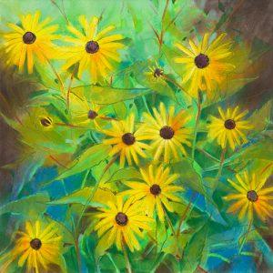 schilderij zonnebloem