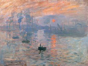 schilderij zonsopgang