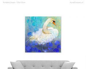 schilderij zwaan